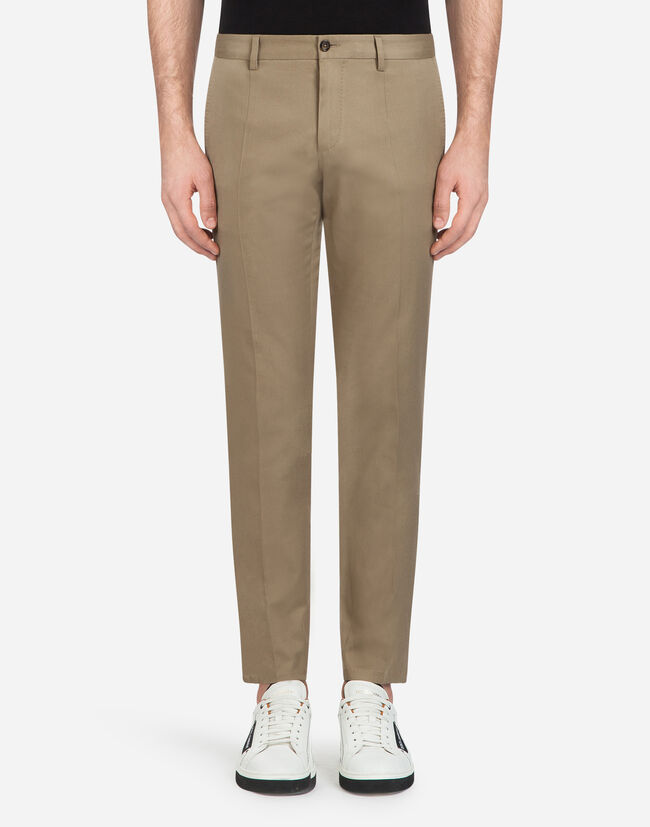 STRETCH COTTON PANTS WITH SIDE STRIPES