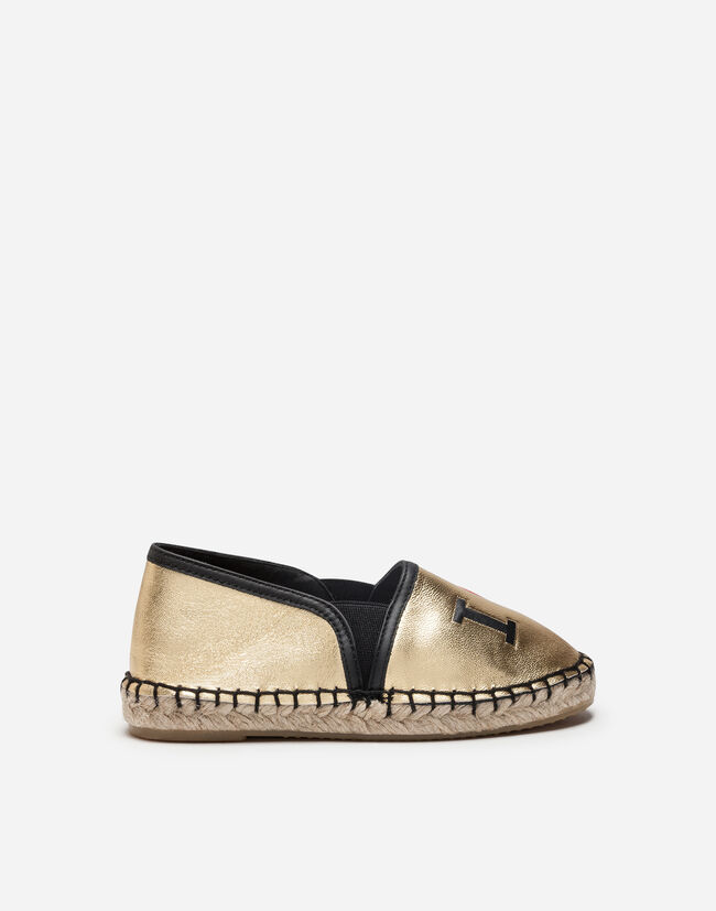 Dolce & Gabbana LAMINATED LEATHER ESPADRILLES