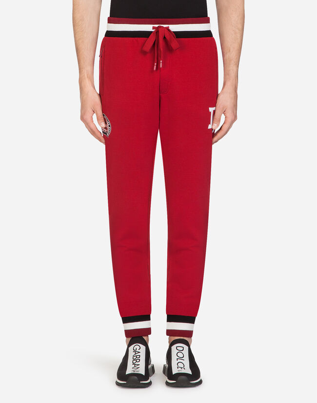 Dolce&Gabbana COTTON JOGGING PANTS WITH PATCH
