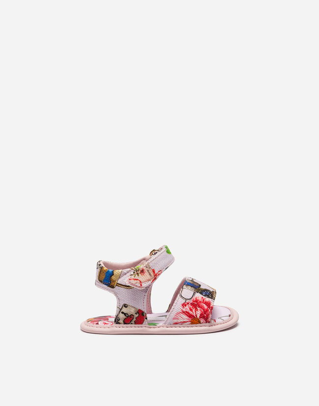 PRINTED COTTON SANDALS