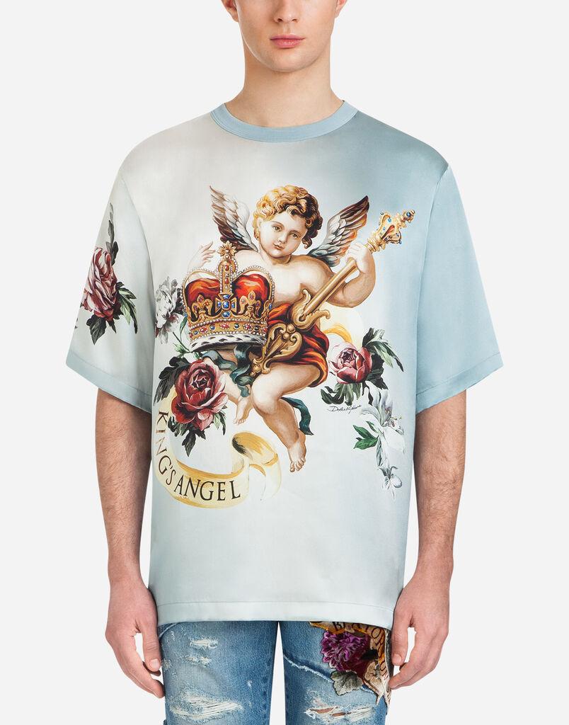 Dolce & Gabbana PRINTED SILK T-SHIRT