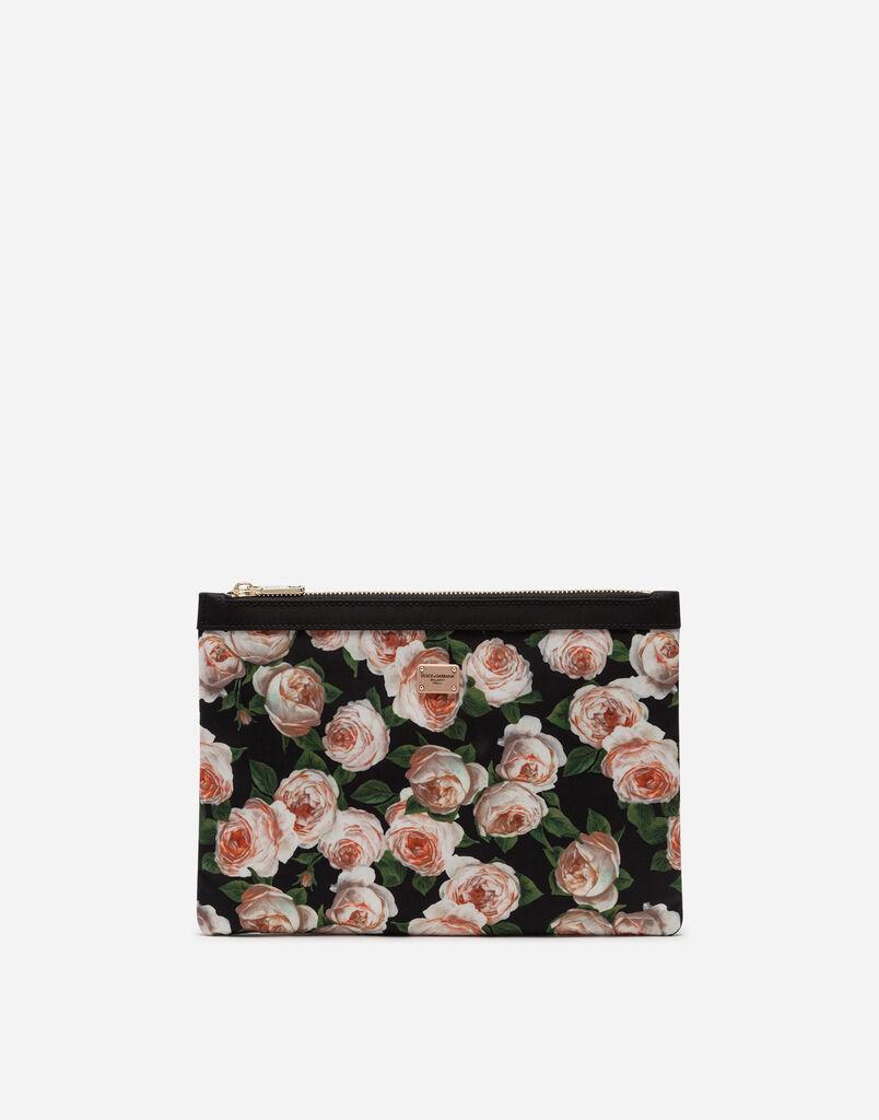 Dolce   Gabbana NECESSAIRE PIATTO PICCOLO IN NYLON STAMPATO b8dd38c783b