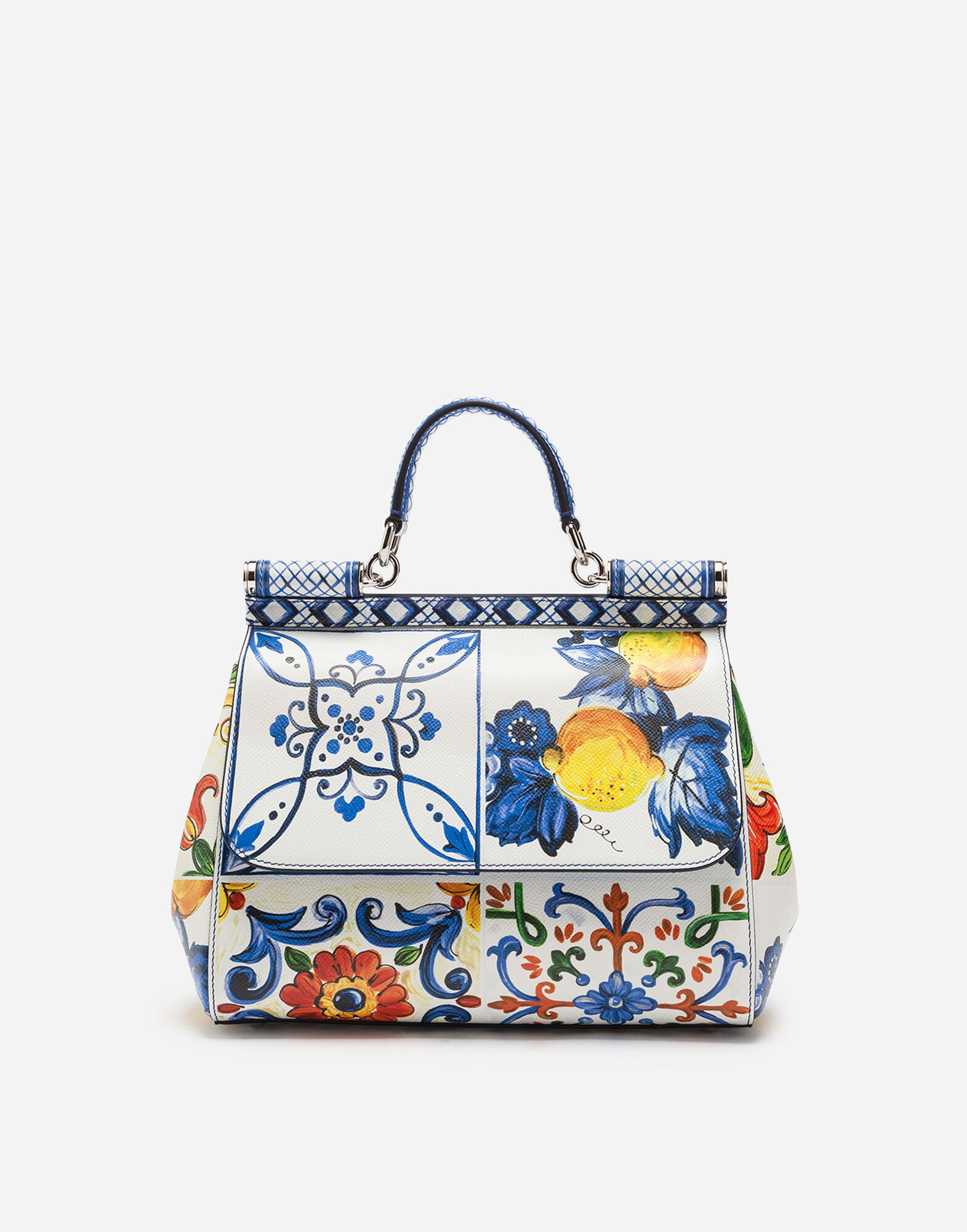 Medium Sicily Bag In Printed Dauphine Calfskin in Female