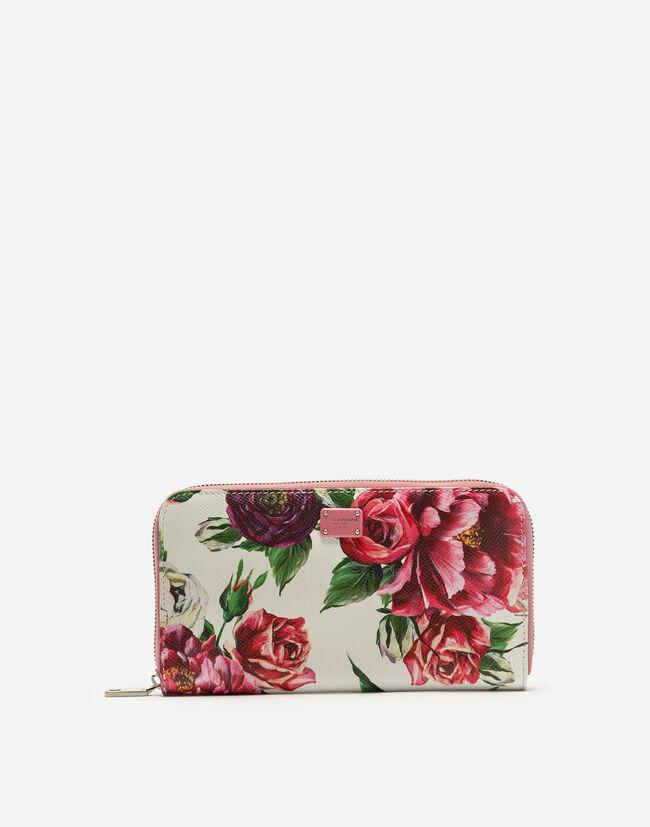 Dolce&Gabbana ZIP-AROUND PRINTED DAUPHINE CALFSKIN WALLET