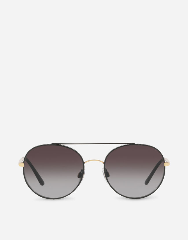 Dolce & Gabbana ROUND SUNGLASSES WITH GROS GRAIN DECORATION