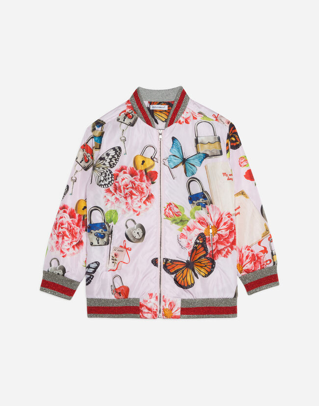 BOMBER JACKET IN PRINTED NYLON