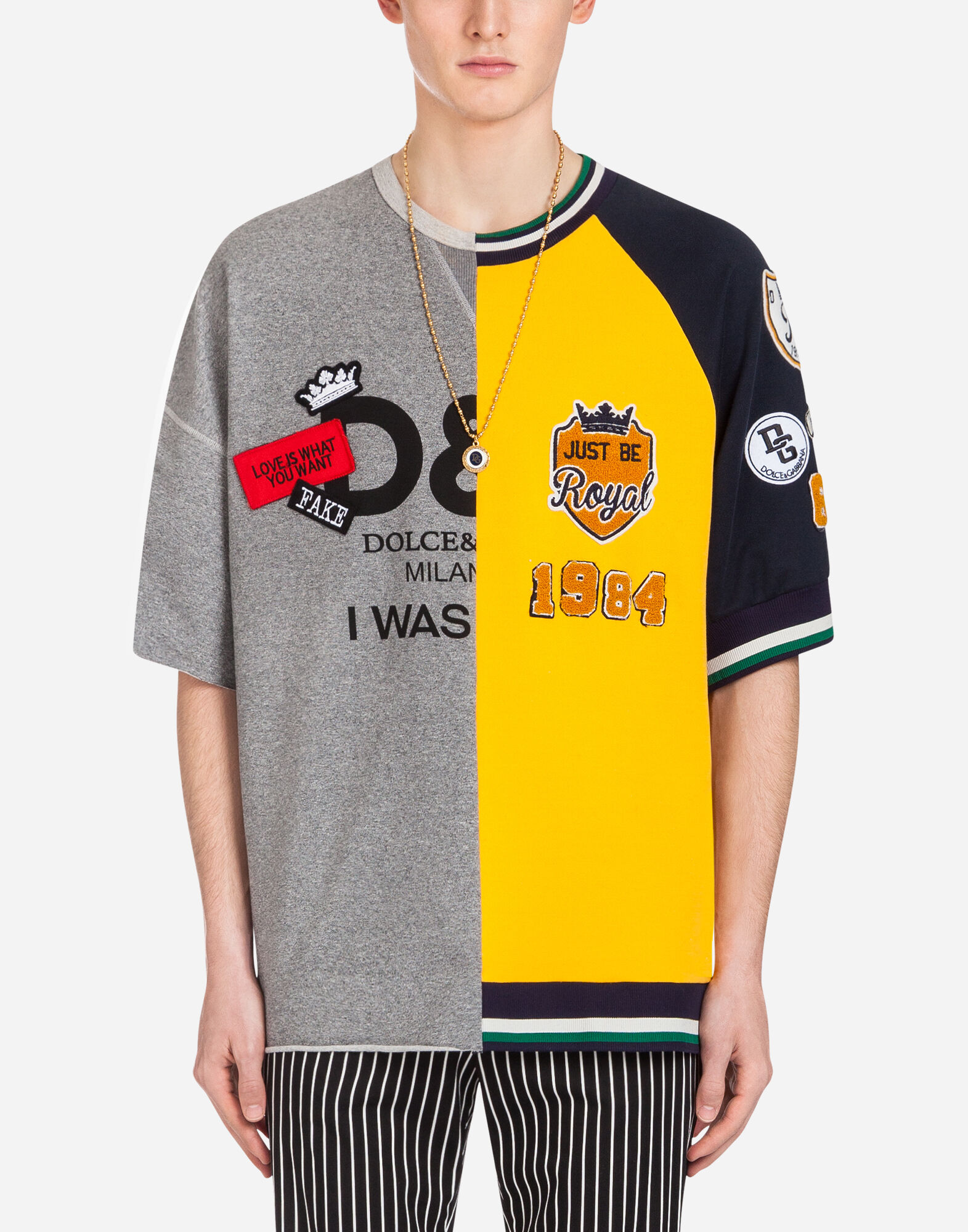 COTTON SWEATSHIRT WITH PATCH from DOLCE & GABBANA