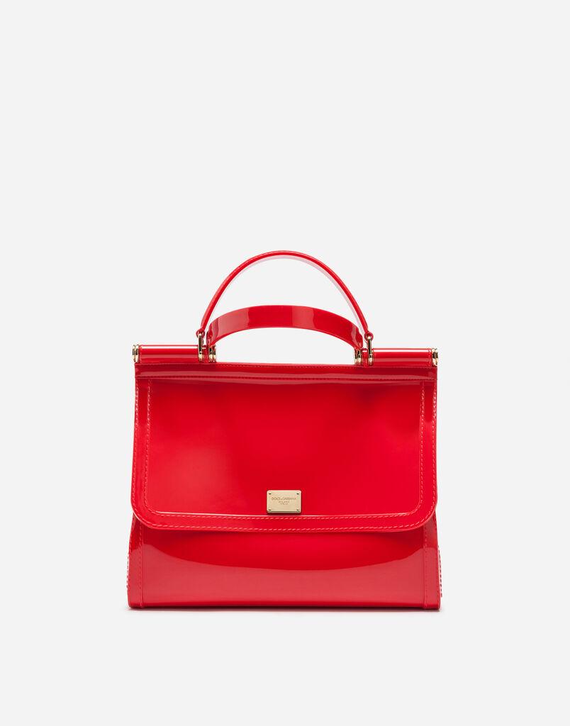 Dolce&Gabbana SEMI-TRANSPARENT RUBBER SICILY HANDBAG
