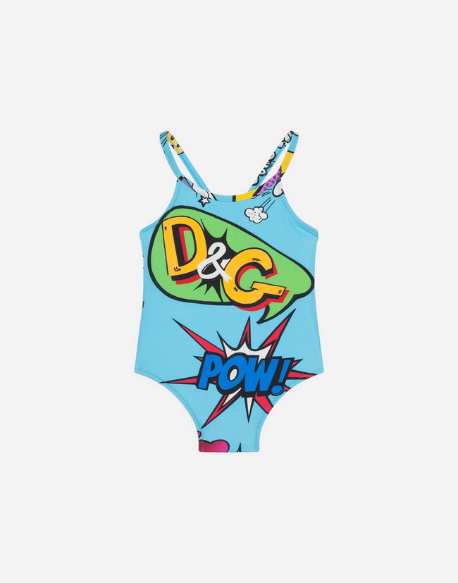 0a7d9ea6c3 Beachwear for Newborn Girls | Dolce&Gabbana - PRINTED SWIMMING COSTUME
