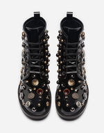 LEATHER BOOTS WITH APPLIQUÉS