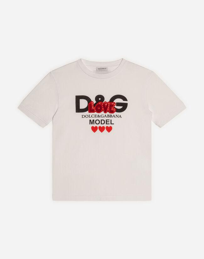ae0c243a3 Printed Cotton T-Shirt - Girls' Apparel   Dolce&Gabbana