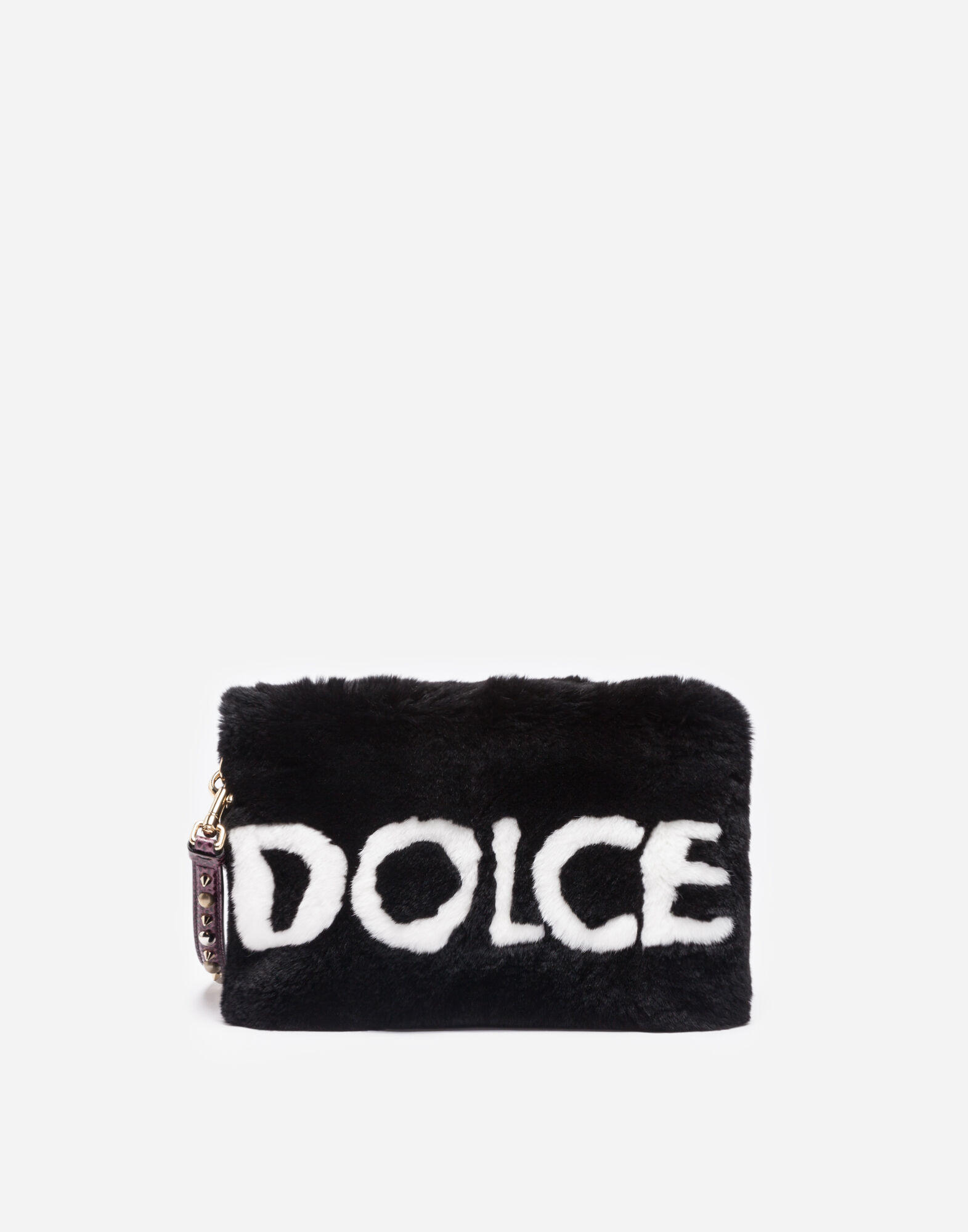 Lapin Pouch With Appliqué in Black