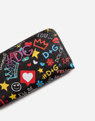 Dolce&Gabbana ZIP-AROUND WALLET IN PRINTED DAUPHINE CALFSKIN