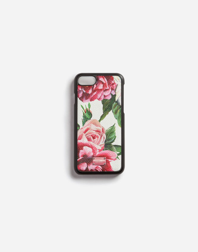 IPHONE 7 COVER IN PRINTED DAUPHINE CALFSKIN