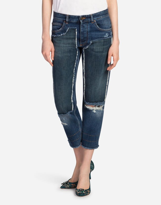 JEANS WITH APPLIQUE
