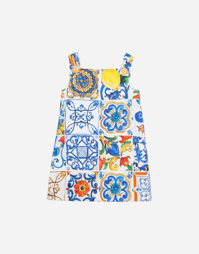 Dolce & Gabbana PRINTED BROCADE DRESS
