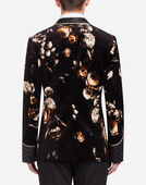 Dolce & Gabbana SMOKING JACKET IN PRINTED VELVET