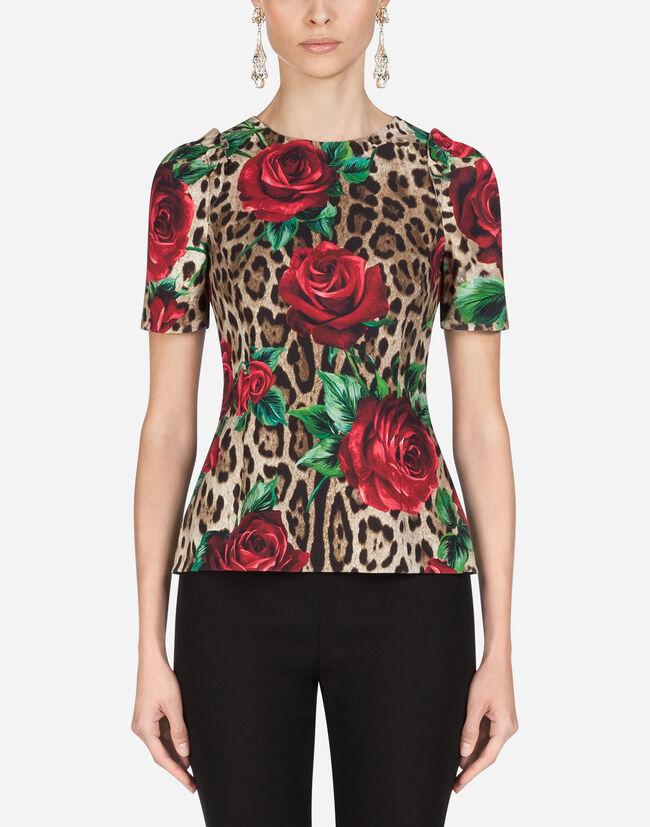 Dolce&Gabbana PRINTED VISCOSE TOP