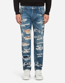 COMFORT FIT JEANS WITH PATCHES