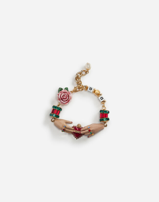 BRACELET WITH DECORATIVE ELEMENTS