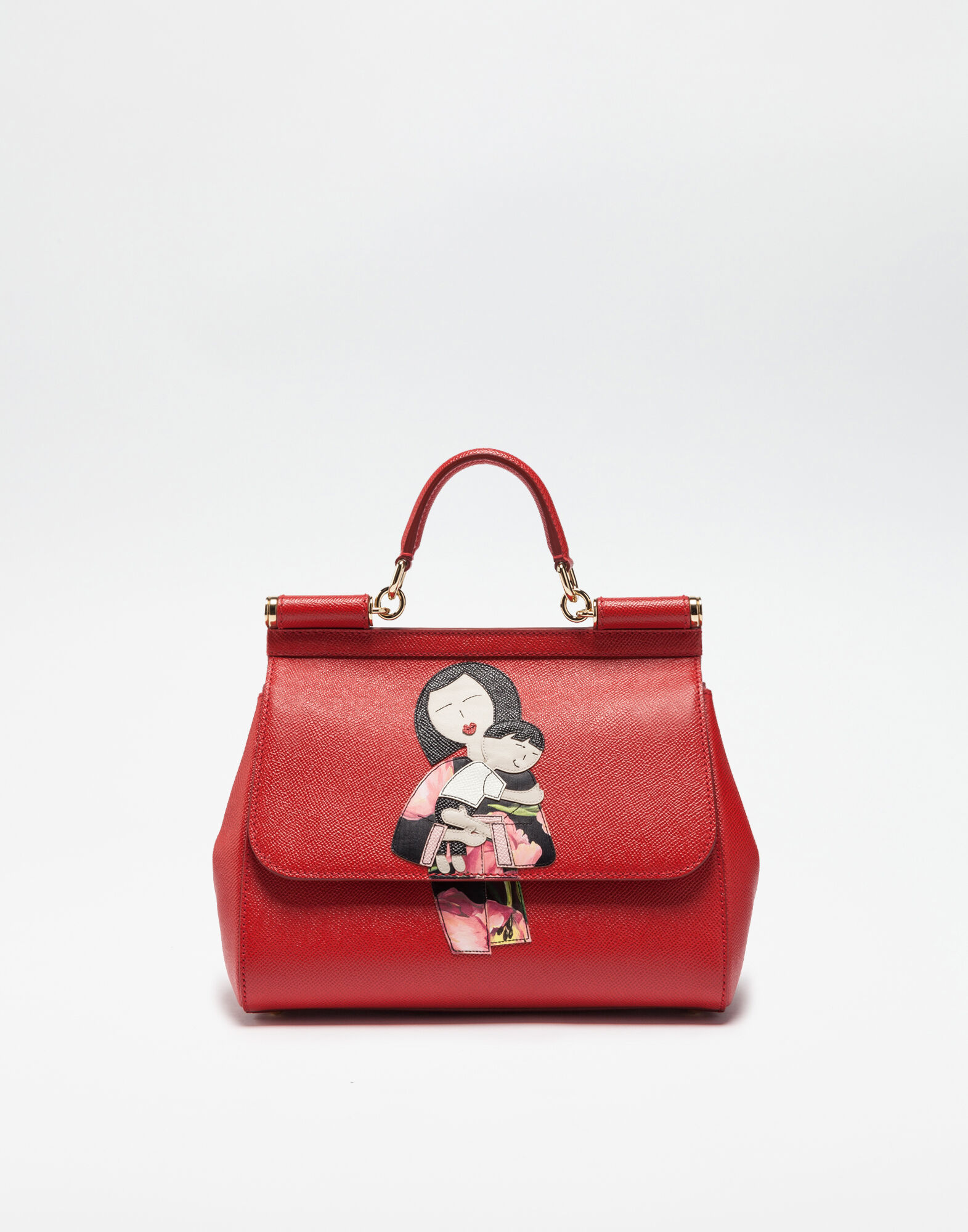 Footlocker Images En Ligne Pas Cher Dolce & Gabbana Embrayage Famille Dg - Rouge Eastbay Pas Cher Aii88udbb
