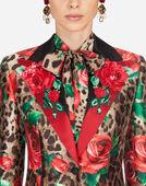 Dolce & Gabbana SINGLE-BREASTED JACKET IN SILK