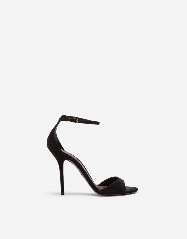 Dolce & Gabbana SUEDE SANDALS WITH LEO SOLE