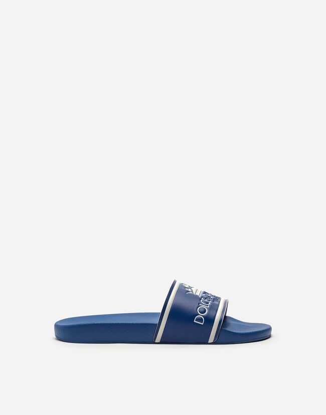PRINTED CALFSKIN AND RUBBER SLIDERS