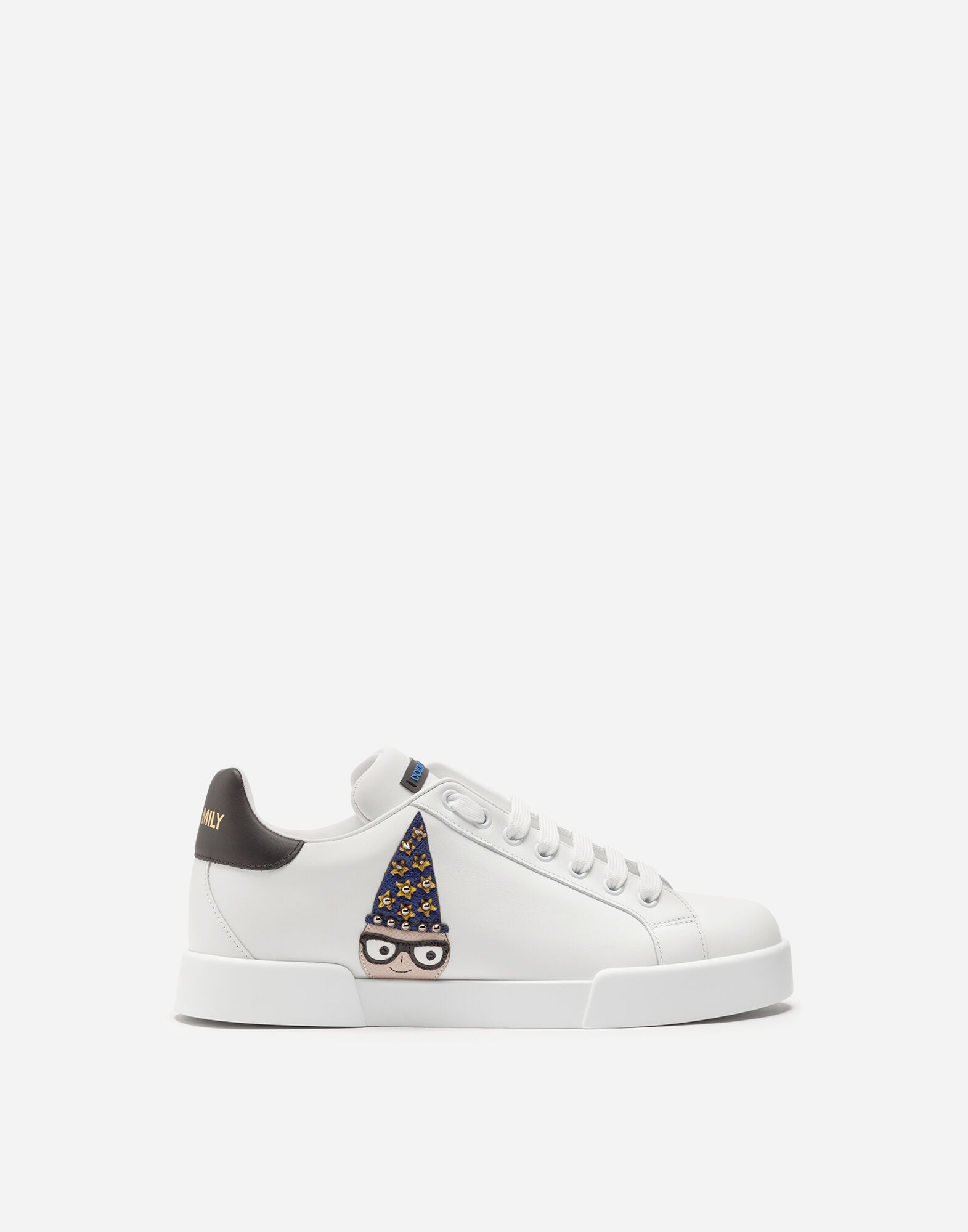 PORTOFINO SNEAKERS IN NAPPA CALFSKIN WITH DESIGNERS' PATCHES