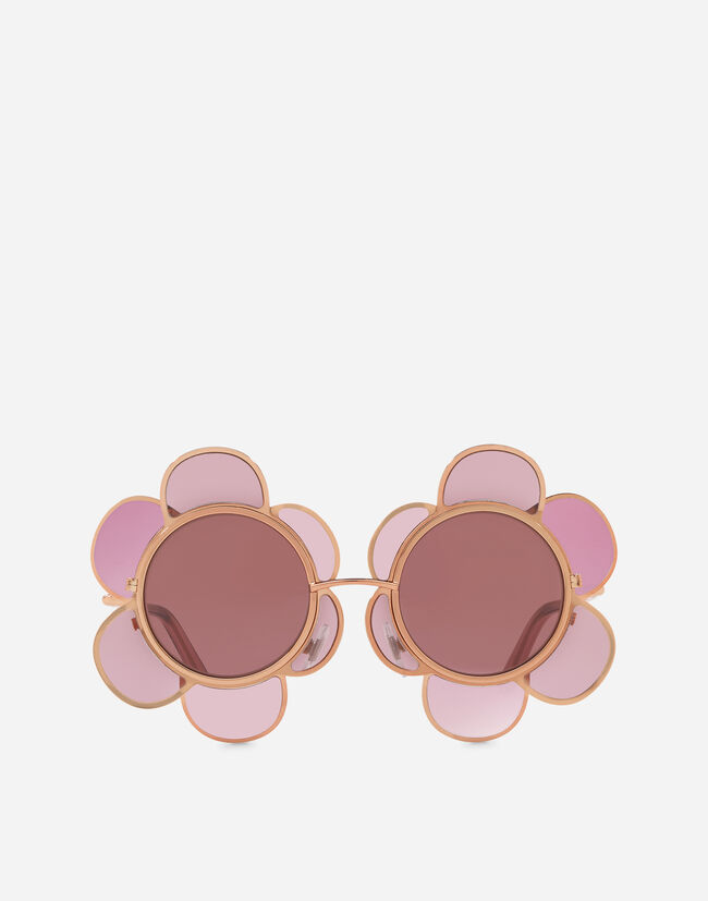 Dolce & Gabbana FLOWER-INSPIRED SUNGLASSES IN METAL