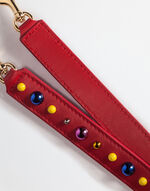 LEATHER STRAP WITH APPLIQUÉ