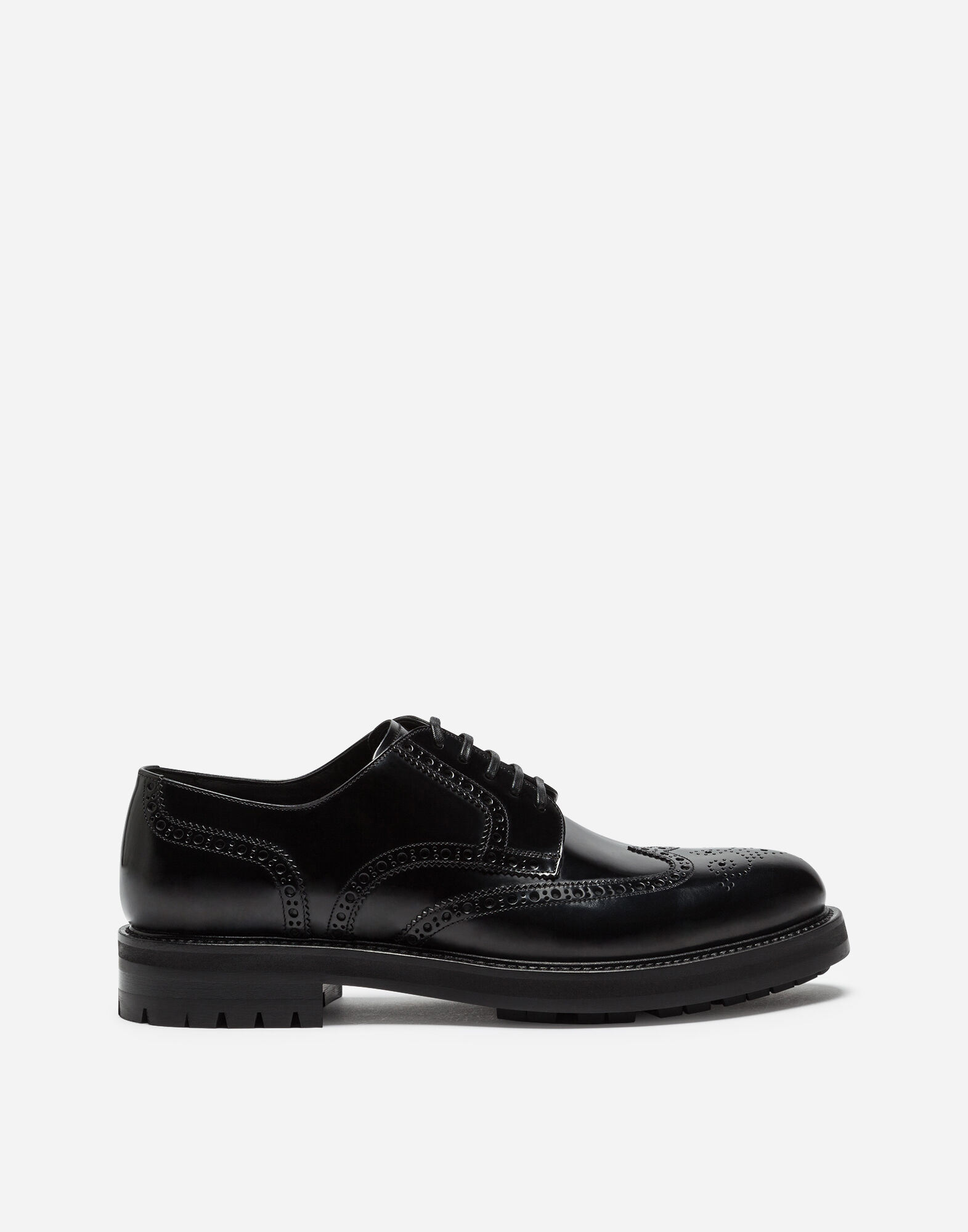FULL BROGUE DERBY SHOES IN BRUSHED CALFSKIN from DOLCE & GABBANA