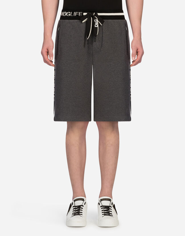 BERMUDA JOGGING SHORTS IN COTTON