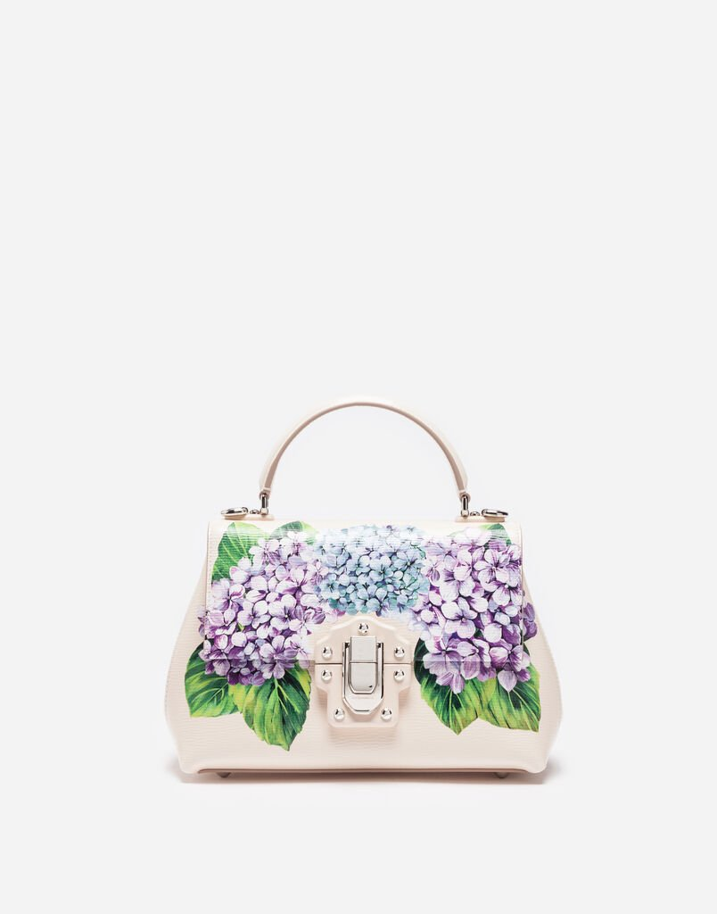SMALL PRINTED LEATHER LUCIA BAG