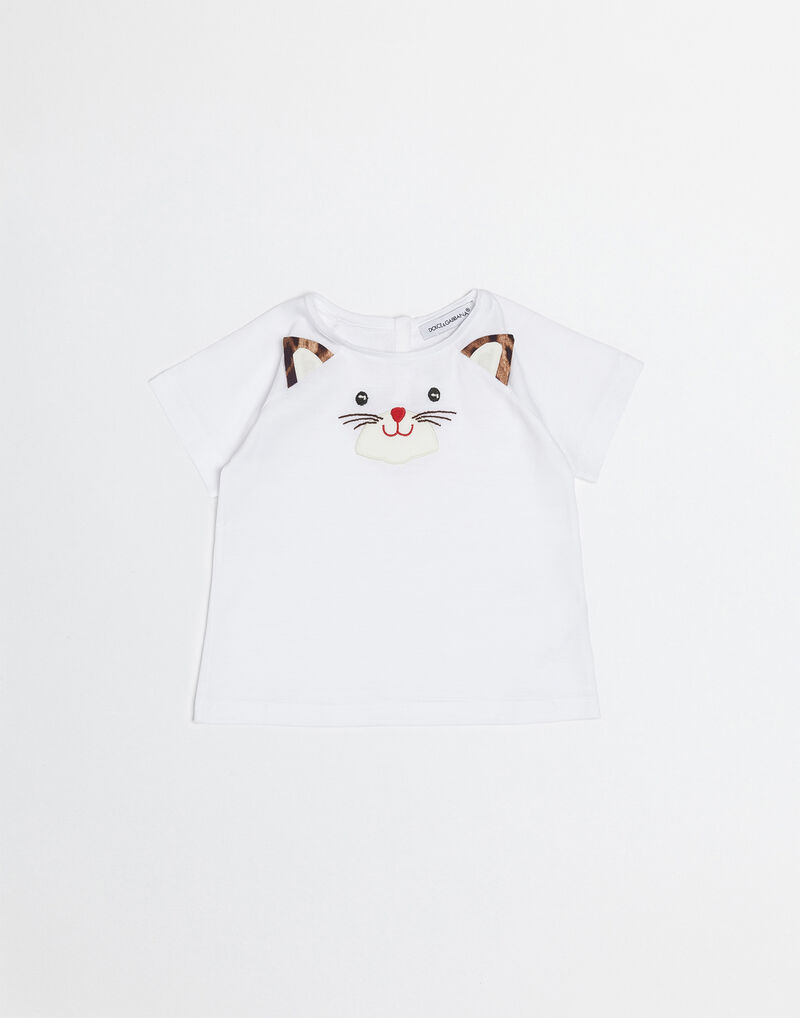 COTTON T-SHIRT WITH ZAMBIA PATCH