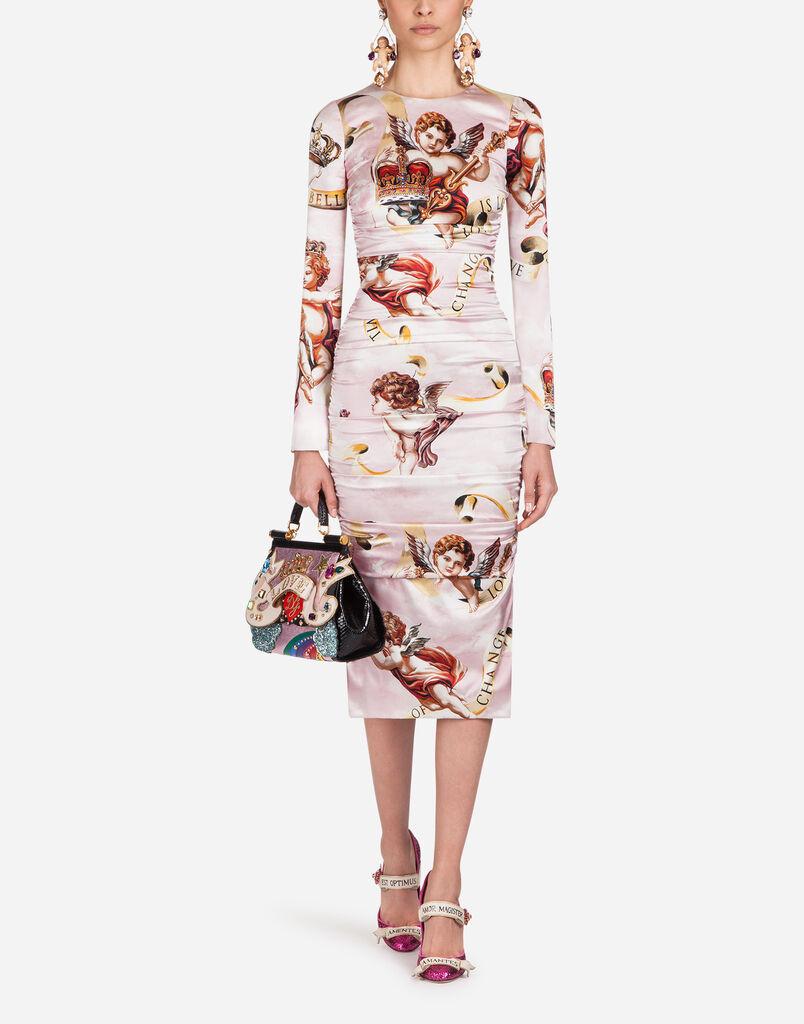 Womens Dresses Clothing For Women Dolcegabbana Blouse Off Shoulder Wanita Charming Pink Fuchsia S Dolce Gabbana Printed Silk Dress