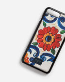 IPHONE 7/8 PLUS COVER IN PRINTED DAUPHINE CALFSKIN