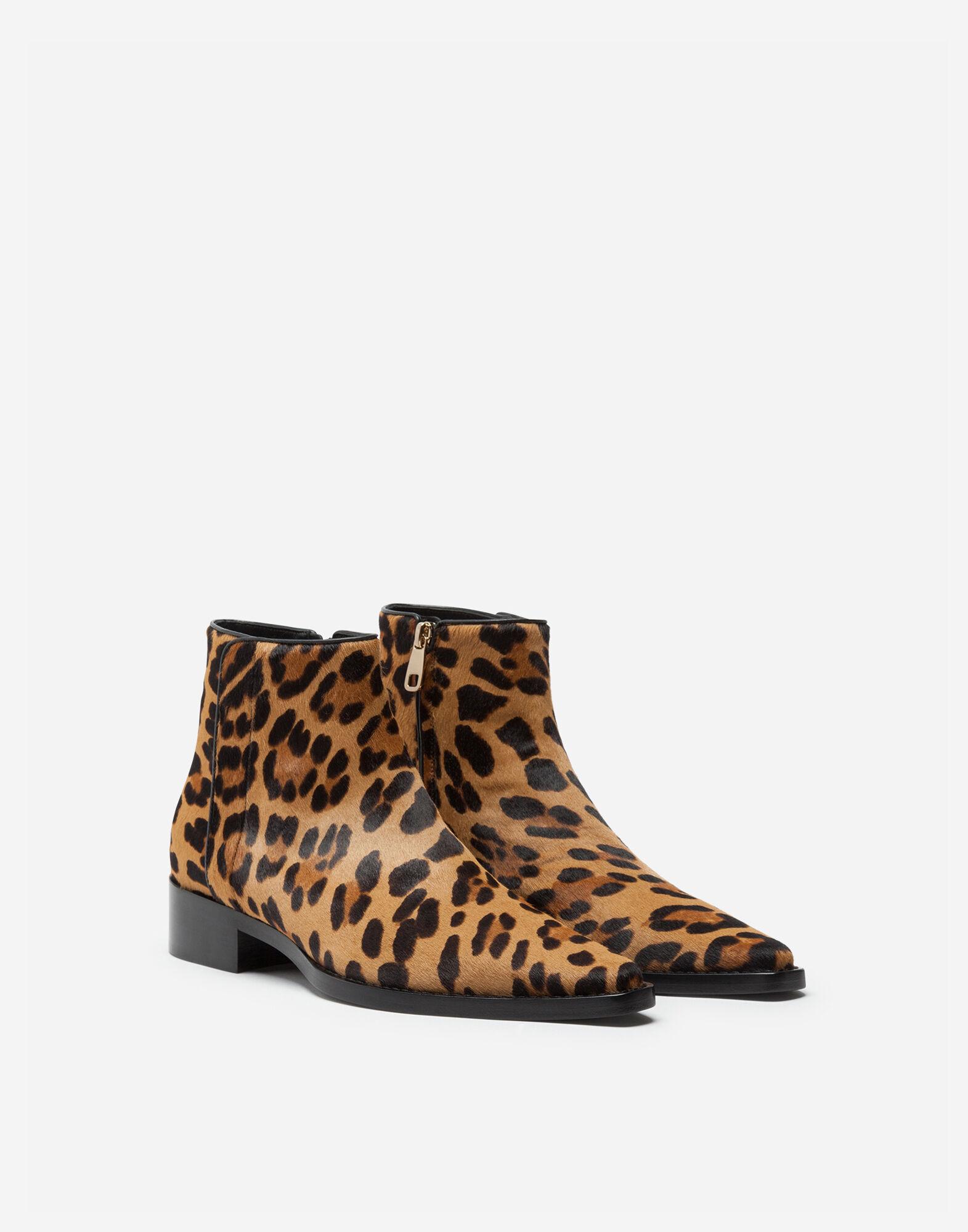 Stiefel und Stiefeletten für Damen | Dolce&Gabbana STIEFELETTE PONYFELL LEO OPTIK