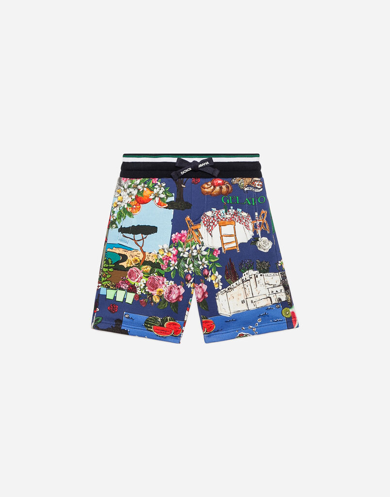 Dolce & Gabbana PRINTED COTTON JOGGING SHORTS