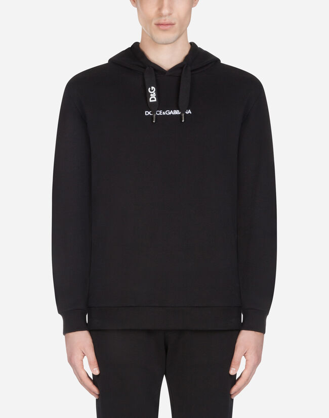 Dolce & Gabbana COTTON SWEATSHIRT WITH EMBROIDERY AND HOOD
