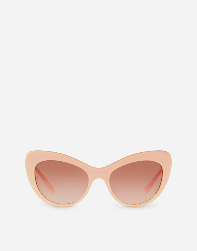Dolce & Gabbana CAT EYE SUNGLASSES WITH CRYSTAL DETAILS