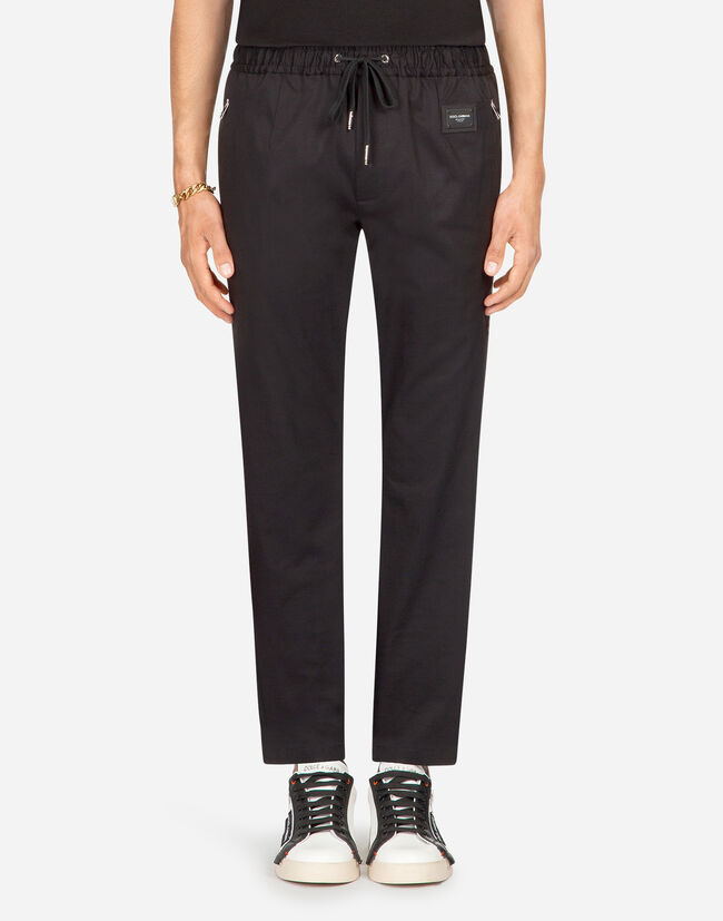 Dolce&Gabbana JOGGING PANTS IN STRETCH COTTON