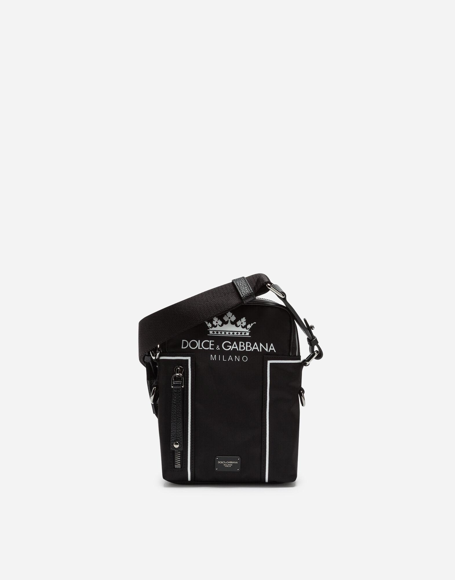 VULCANO SHOULDER BAG IN PRINTED NYLON from DOLCE & GABBANA