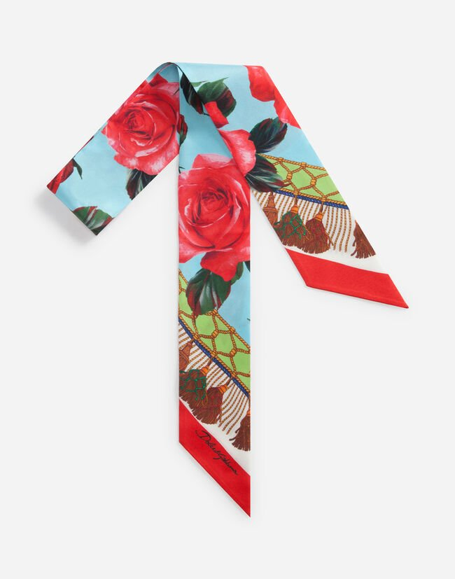 PRINTED SILK HEADBAND 6 x 100 cm – 2.4 x 39.4 inches