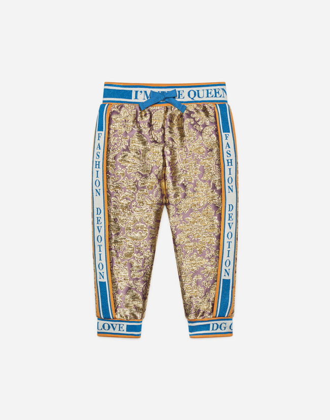 Dolce & Gabbana JOGGING PANTS IN BROCADE