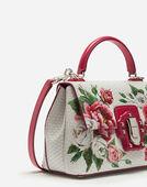 Dolce&Gabbana MEDIUM LUCIA BAG IN PEONY-PRINT CALFSKIN