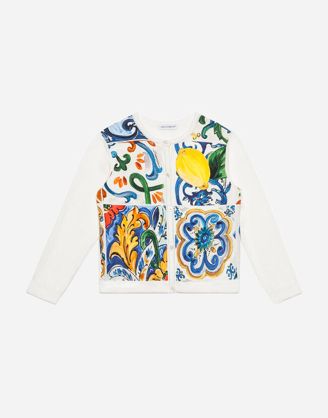 Dolce&Gabbana PRINTED COTTON CARDIGAN