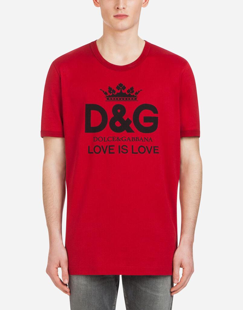 T Shirts Und Polos Fr Herren Dolcegabbana Shirt Aus Baumwolle Mit Dg Print