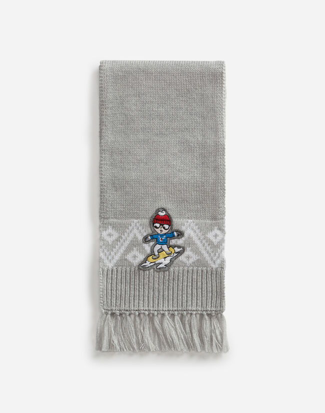 Dolce & Gabbana WOOL SCARF WITH PATCH