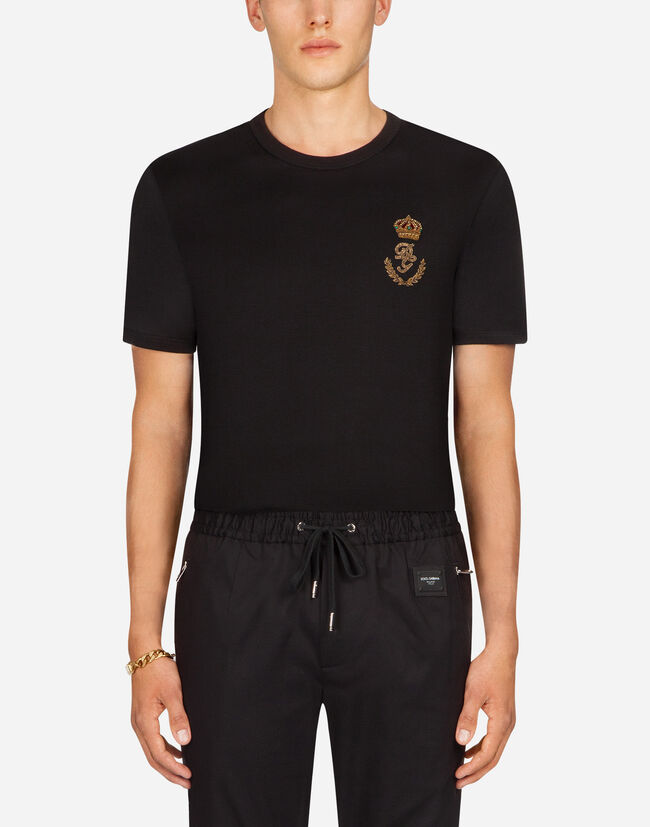 Dolce&Gabbana COTTON T-SHIRT WITH PATCH
